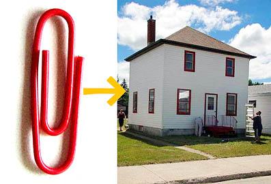 カナダのわらしべ長者、1年で紙クリップから一戸建てをゲット。