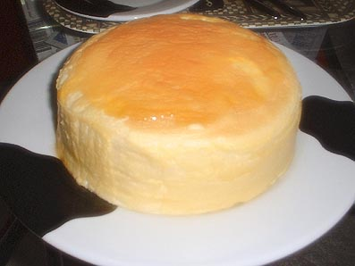 我が家自慢の自家製チーズケーキ。