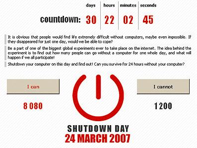 3月24日をShutdown Dayとしよう!