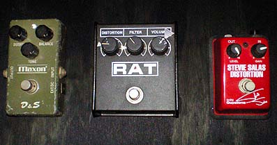 Distortion pedals