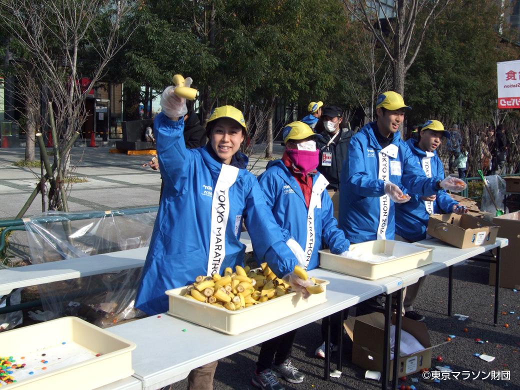 東京マラソンの給食