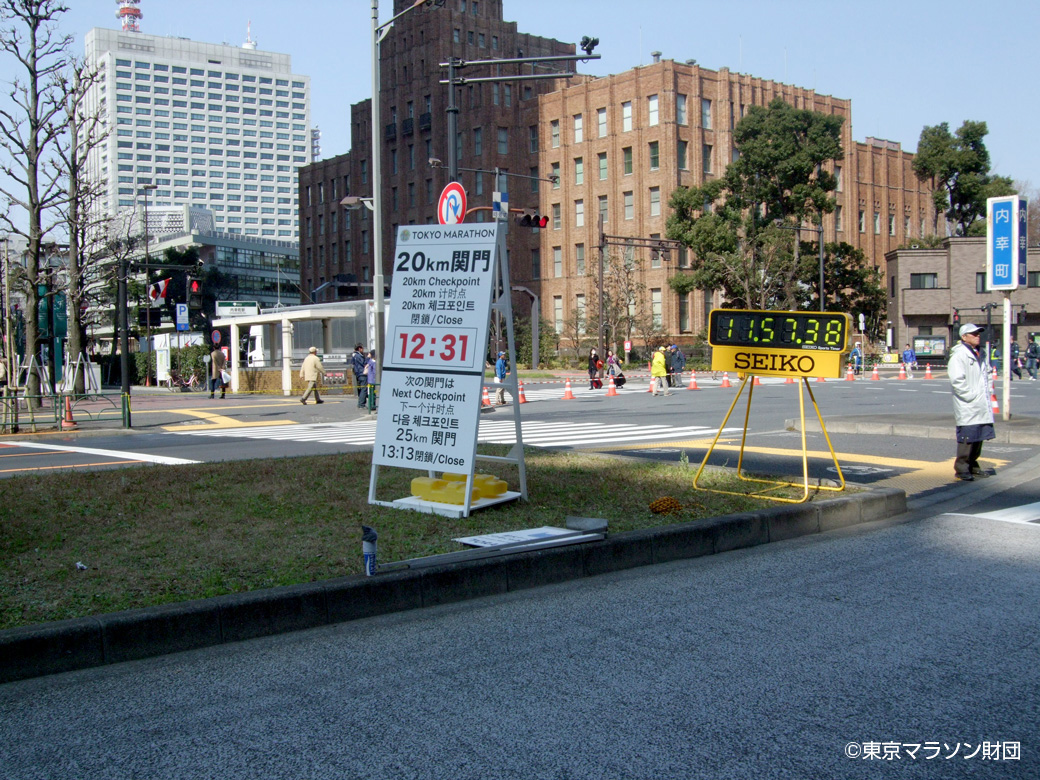東京マラソンの関門