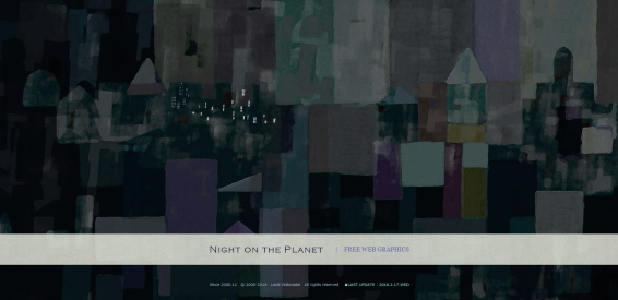Night on the Planet フリー素材