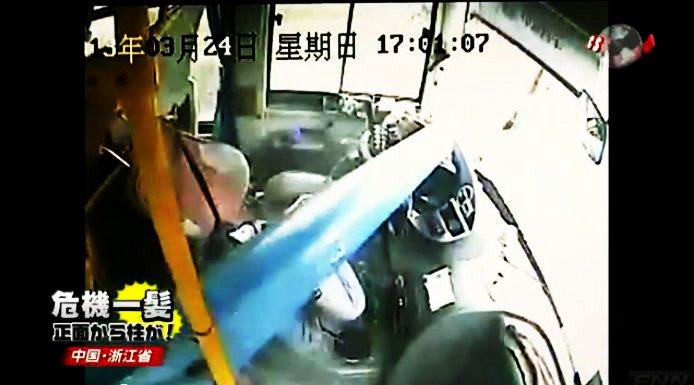 中国・浙江省 バス 街灯