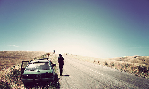 car-girl-lonely