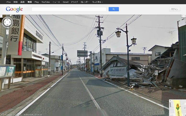 11グーグル、福島県浪江町のストリートビュー画像を公開02