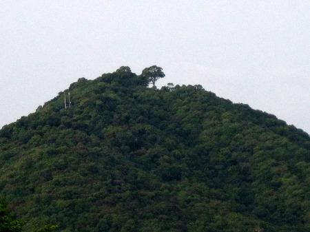大津山の頂上が変わった
