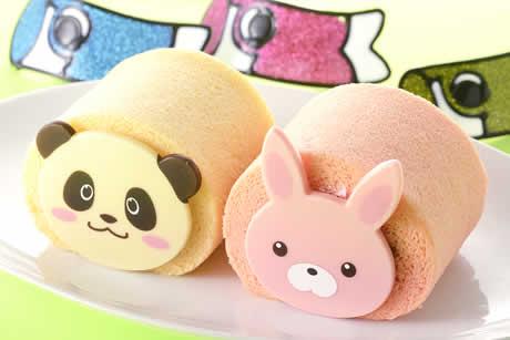 『こどもの日パンダちゃんとうさちゃんのたまごロール』前面写真