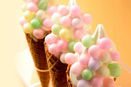 『笑顔こぼれる〜ハッピーらんらんソフトクリーム〜おいり』写真