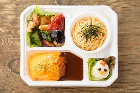 『蔵王うみたて卵のオムライスと日替わりパスタセット』商品写真