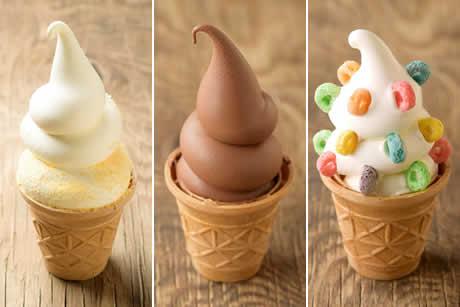 『コッコソフトクリーム』各種 商品イメージ写真