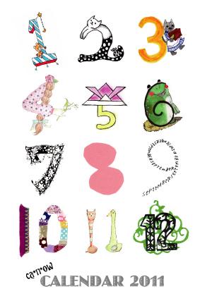 ca*n*owカレンダー2011のDMデザインができました★
