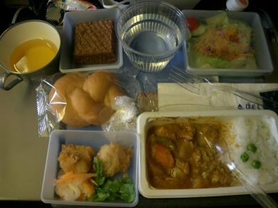 デルタ航空機内食1(日→米)
