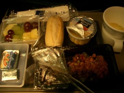 デルタ航空機内食3(米→日)