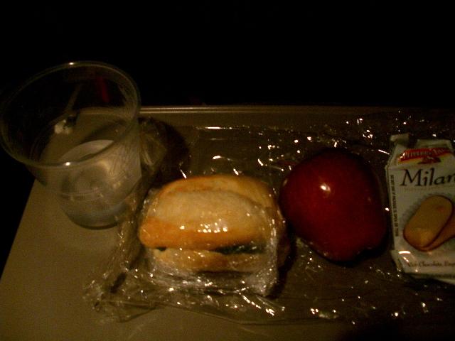 デルタ航空機内食4(米→日)