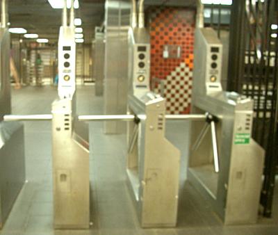NY地下鉄改札