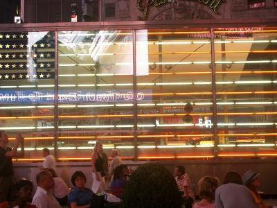 タイムズスクエアの国旗