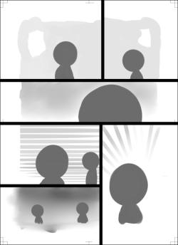 絵と仮枠線