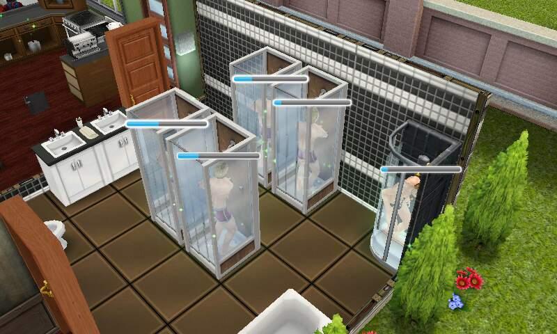 フリープレイ 5人同時にシャワー