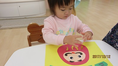 1歳児 だるまさん(製作)