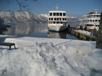 雪の十和田湖