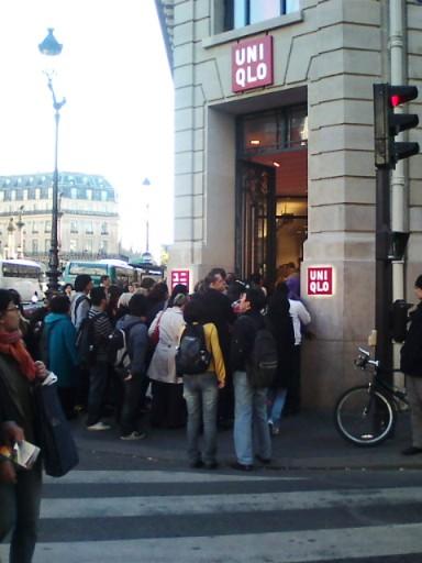 パリのユニクロ