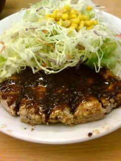 松屋トンテキ定食