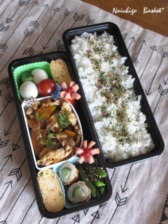 カボチャと豚肉のお弁当☆