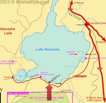 lake naivasha map