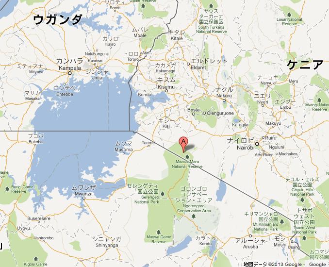 masaimara map