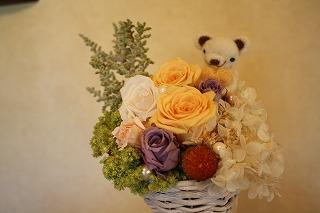 お花とくまちゃん