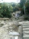 土石流の跡