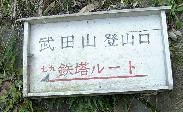武田山:鉄塔ルート?