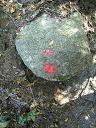 岩にも目印があります