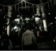 祭で賑わう夜の白神神社