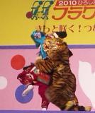 清正の使いの者が虎に襲われました
