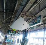 JR米子駅 天井に一反もめん