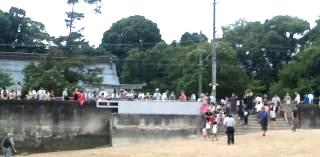 地御前神社前御座船の着くところ