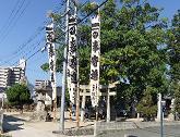 お祭りの冬木神社