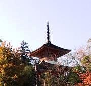 聚景荘から見た多宝塔