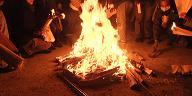 斎場の大束:火種(厳島神社の火)