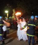 厳島神社より火が届きました