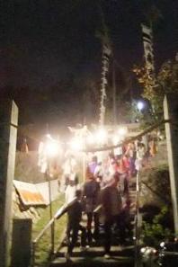 河内神社参道の階段