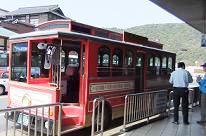 電車型レトロバス:いちすけ号