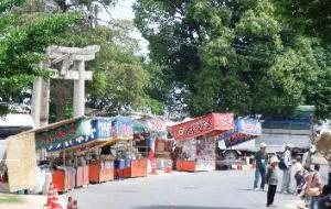 地御前神社前の露店