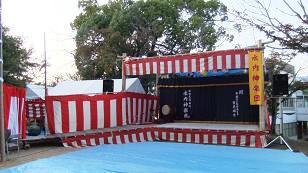 神楽の舞台