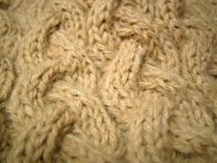 帽子の編み地