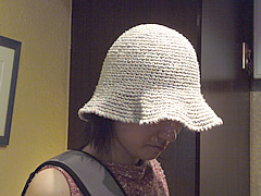 akaさんの帽子