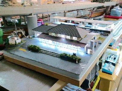 衣笠駅のジオラマ