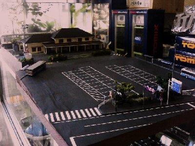 JR衣笠駅のジオラマ